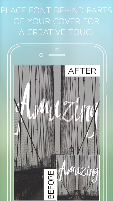 Screenshots of Under Ink - Typography Cover Maker for Wattpad & Movellas for iPhone
