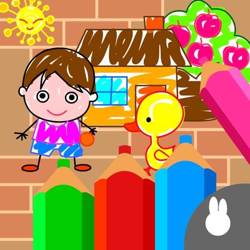 宝宝涂鸦 - 免费幼儿涂画画板儿童涂鸦游戏