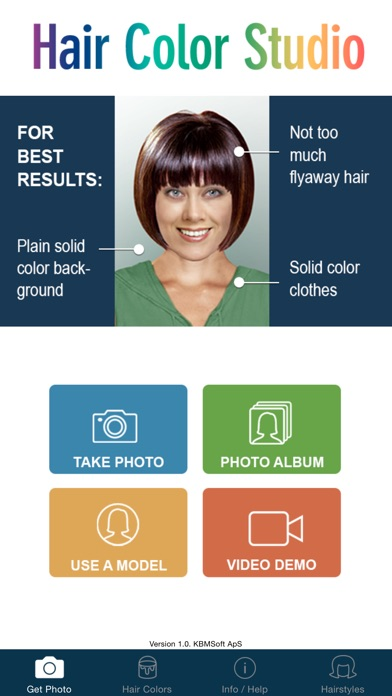 Hair Color Studio Try On A New Hair Colour On The App Store - Hairstyle colour app