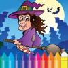 Halloween & Witch Coloring Book - Drawing Ghost for kids