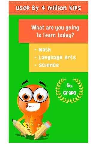 iTooch 5th Grade App | Math, Language Arts and Science screenshot 1
