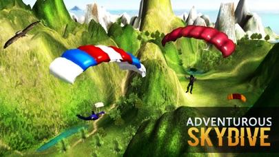 エアスタントシミュレータ3D - スカイダイビングフライトシミュレーションゲームのスクリーンショット3