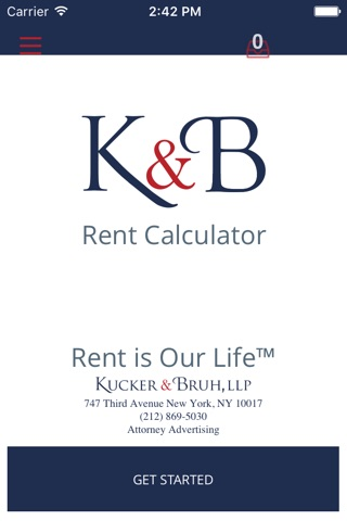 Kucker & Bruh Rent Calculator screenshot 1