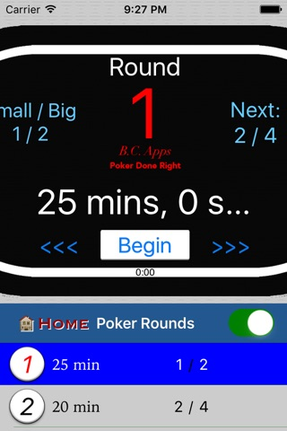 Poker Setup & Timer: Texas Hold'em screenshot 4