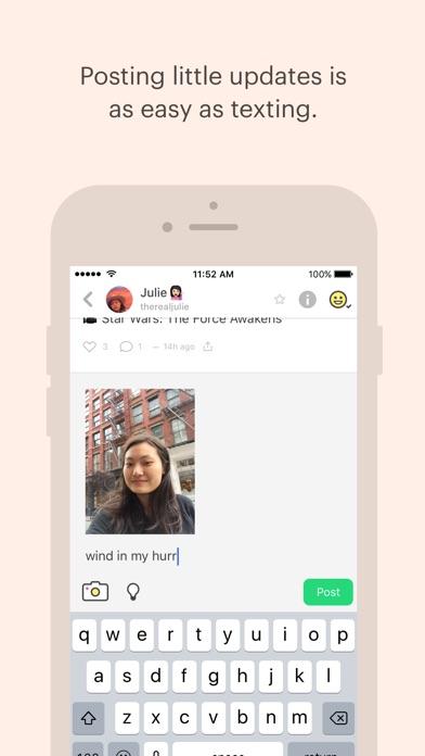 Peach — share vividly Screenshot