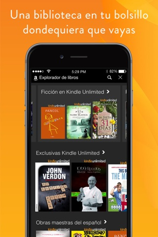 Amazon Kindle screenshot 1