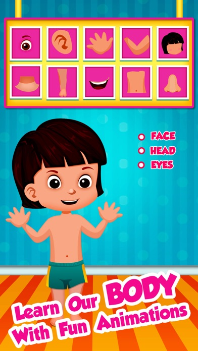 download Kids Learning Body Parts – Babies preschool and kindergarten app for fun listen, touch, hear and see learning with memory match game appstore review