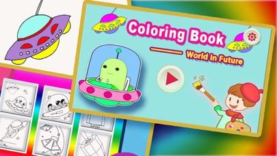 Screenshot of Libri da colorare per i bambini - Paint & Doodle per rendere il Spaceship e Robot colorato1