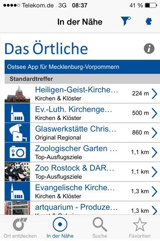 Ostsee-App von Das Örtliche – Entdecke die Ostseeküste von Mecklenburg-Vorpommern mit der kostenlosen Reiseführer App. screenshot 3