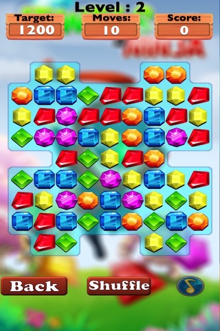 Diamond Jewels Ninja Mania-diamond game and match jewels screenshot 3
