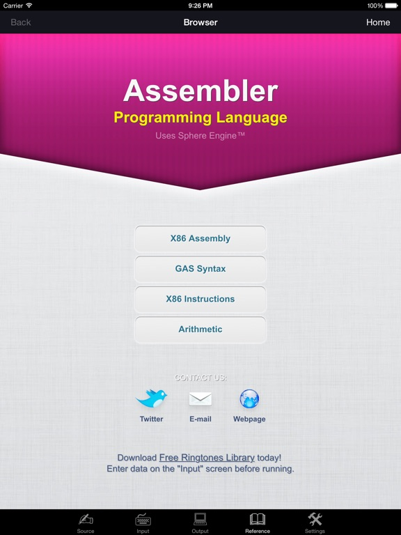 Assembler Programming Language Screenshots