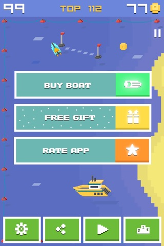 Pixel Bit Drift - Speed Boats Water Challenge screenshot 4