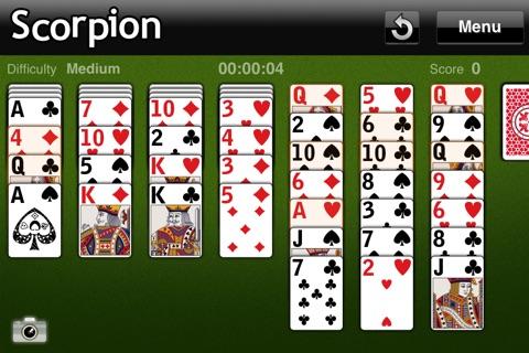 The Scorpion Solitaire screenshot 1