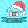 Stickermas - Добавить фоторамки, текст и наклейки на фотографии  для с Новым Годом С и Рождеством Христовым
