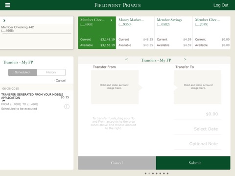 Fieldpoint Private for iPad screenshot 2
