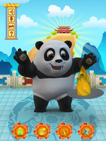 Talking Bruce the Panda for iPad Скриншоты3