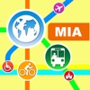 Miami City Maps - Discover MIA with Metrorail, Bus, and Travel Guides. Aplicaciones gratuito para iPhone / iPad