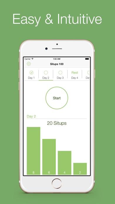 Situps 100 - 30 days workout challenge Screenshot 3