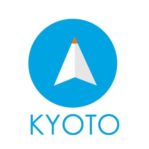 京都旅行者のためのガイドアプリ 距離と方向ナビのPilot(パイロット)