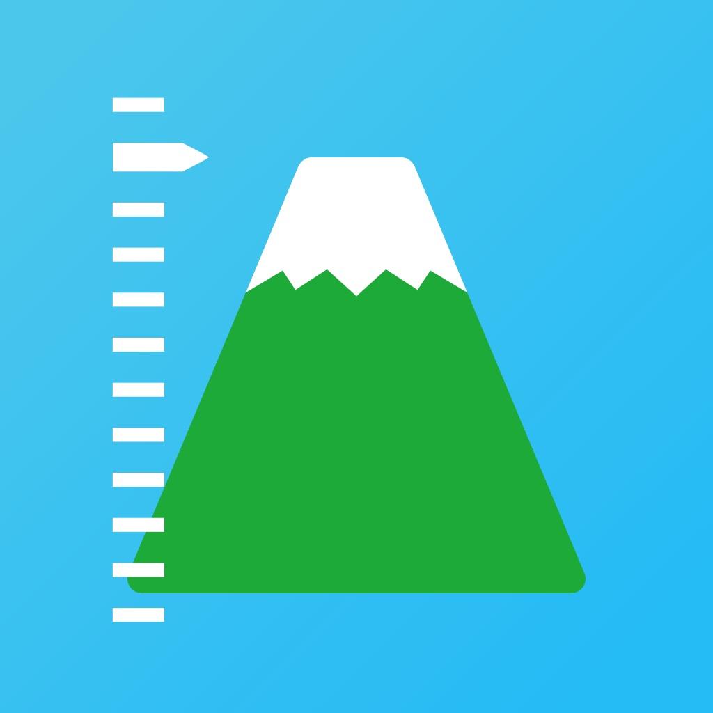 標高ワカール - 山登り・防災のための海抜測定