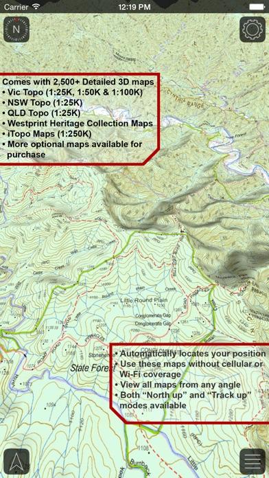VMS Map Explorer   4WD 3D Topo Offline Navigation screenshot two