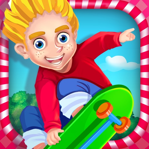 Crazy Skater Kids Speed Race iOS App