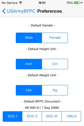 Army Body Fat Percentage Calculator for iPhone screenshot 3
