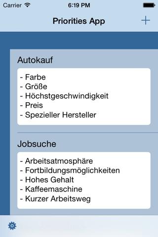Priorities App - Order your Priorities and Tasks screenshot 1