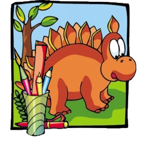 Dino Saurs Coloring Book For Kids iOS App