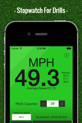 Baseball Pitch Speed - Radar Gun screenshot 3
