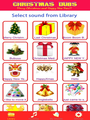 Screenshots of Christmas Dubs - Dub video maker with your favorite sound for Xmas and Happy New Year for iPad