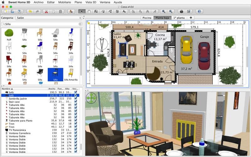 sweet home 3d en mac app store. Black Bedroom Furniture Sets. Home Design Ideas