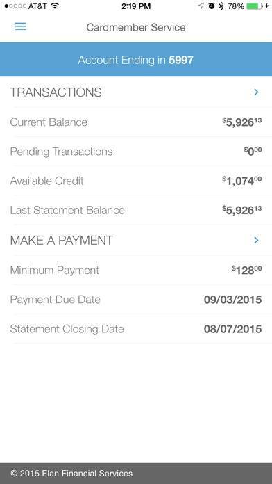 Elan Credit Card (by Elan Financial Services) - Download ...