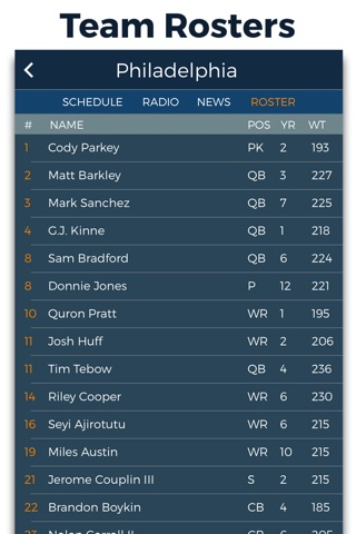 Pro Football Radio & Live Scores screenshot 4