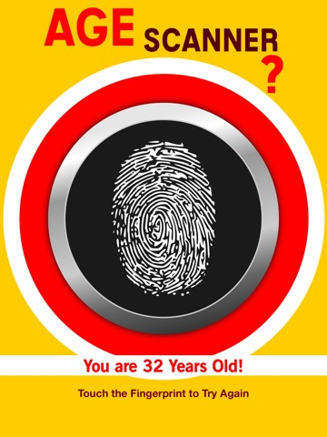 Screenshots of Age Fingerprint Scanner - How Old Are You? Detector Pro for iPad