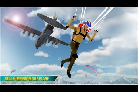Airplane Skydiving Flight Simulator - Air Flying Stunts screenshot 1