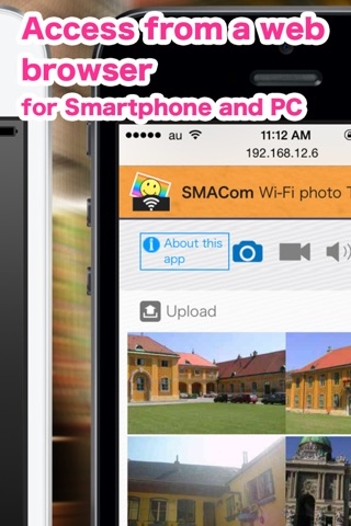 SMACom Wi-Fi Photo Transfer : Send Image and Movie to a PC directly communicate screenshot 3