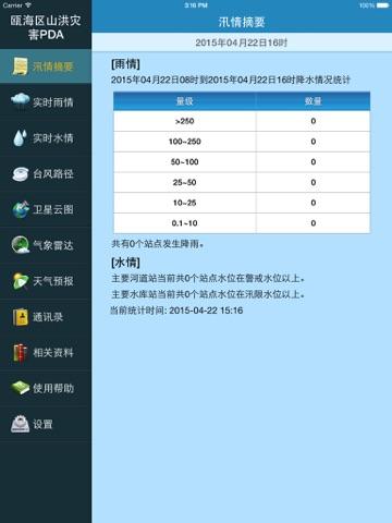 瓯海防汛通HD screenshot 1