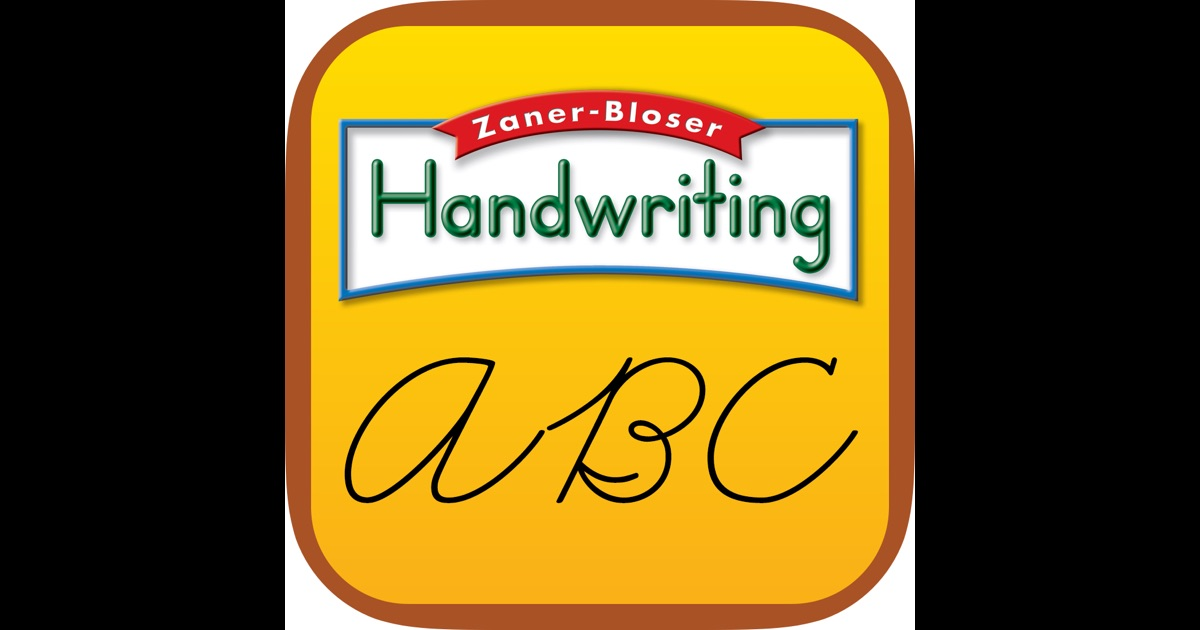 Zaner bloser writing app