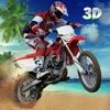 クレイジーバイクスタントビーチは、3Dのジャンプ