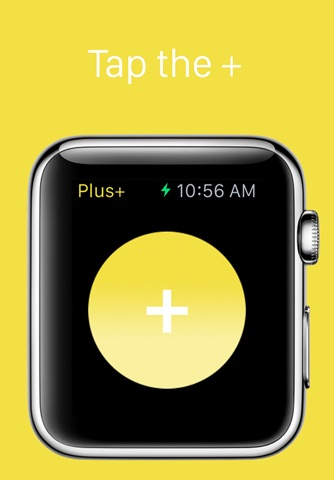 Plus+ — A simple tap counter for Apple Watch screenshot 1