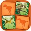 Dinosauri - gioco di coppie: esercizi di memoria divertente per i bambini