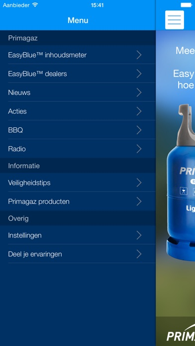 Download Primagaz EasyBlue™ App