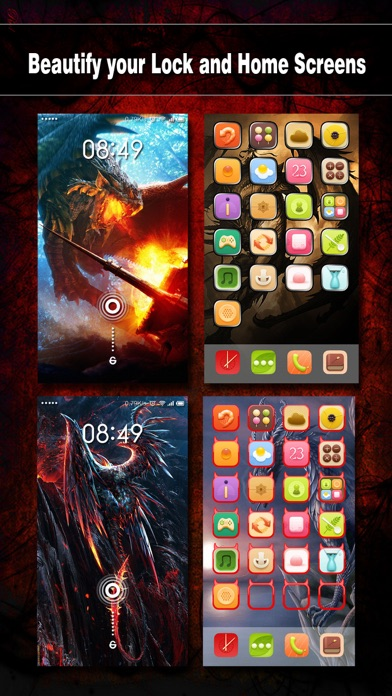 download Dragon Wallpapers, Backgrounds & Themes Pro - Lock Screen Maker with Cool HD Dragon Pics apps 3