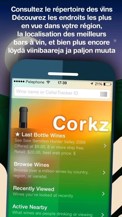 Corkz - Vin, Base de données, gestion CaveCapture d'écran de 1