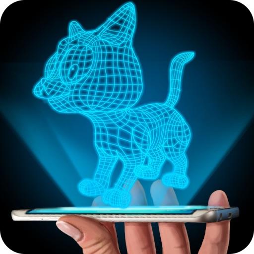 Hologram 3D Cat Simulator iOS App