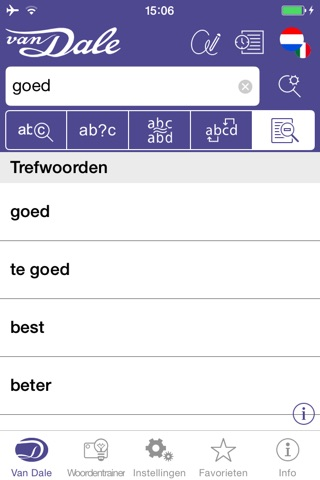 Italian dictionary- Van Dale Pocket dictionary: translate between Dutch and Italian, look up spelling, listen to pronunciation and learn from examples screenshot 3