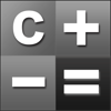 Calculator HD· Free - Simple Calculator with Black White Tile Display & Notable Paper Tape for the iPad,iPhone and iPod