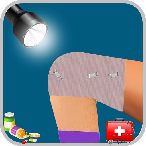膝の手術 - クレイジー小さな外科医のための仮想医師&病院のゲーム