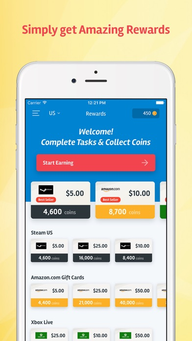 Screenshots of PocketFlip - Gift Cards & Cash For Apps Rewards for iPhone